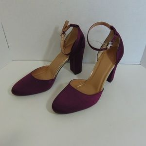 A New Day Heels Block Heel Ankle Strap Shoes Sz 11